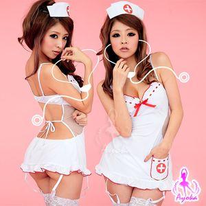 裸背情趣護士裝